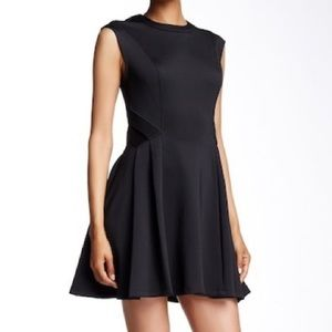 Ted Baker black neoprene nistee skater dress